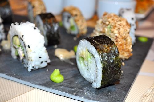 cuisine japonaise Maki et California rolls maison