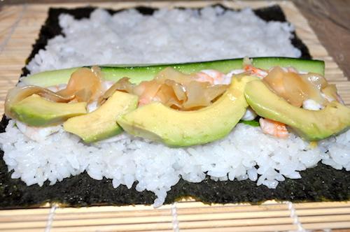 sushi maison Maki et California rolls maison