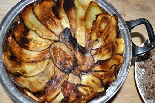 aubergines grillees Maklouba aux Aubergines