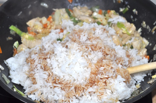 cuisine thai Fried Rice ou Riz frit
