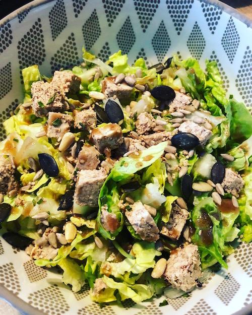 salade de tofu Salade au Tofu lactofermenté