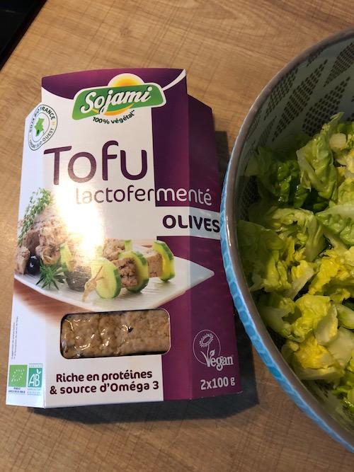 tofu Salade au Tofu lactofermenté