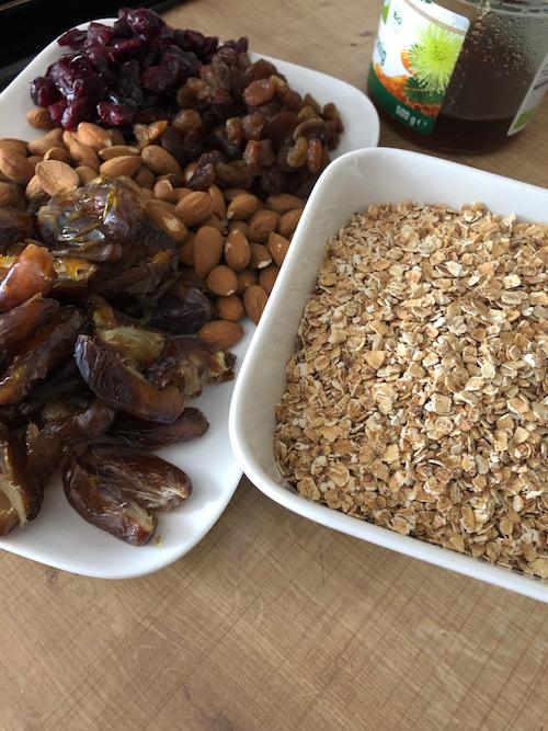 barre aux fruits secs Barres de céréales maison