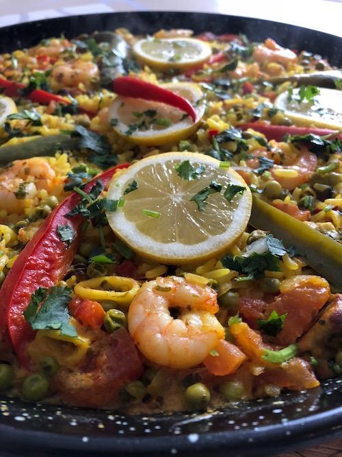 paella express Paëlla aux fruits de mer